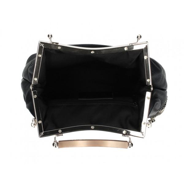 Kožená kabelka MI91 machová Made in Italy Machová