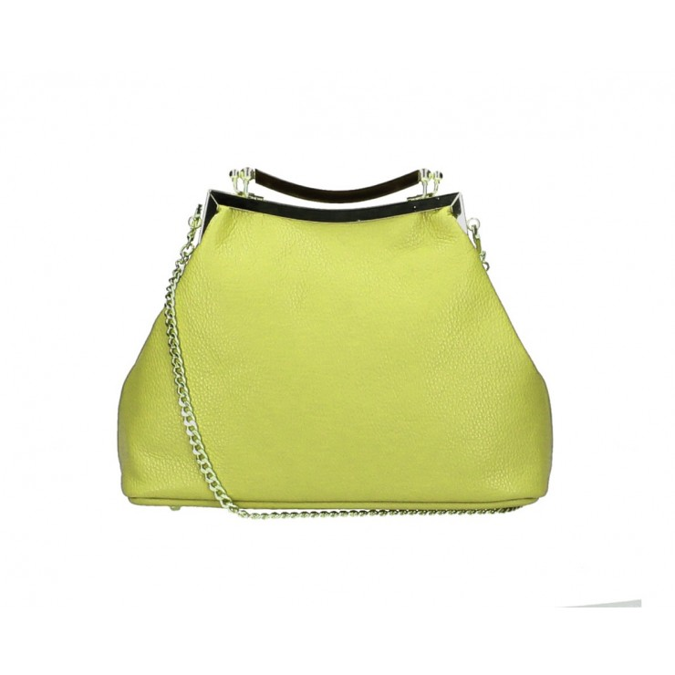 Clutch Bag with chain MI91 moss Made in Italy