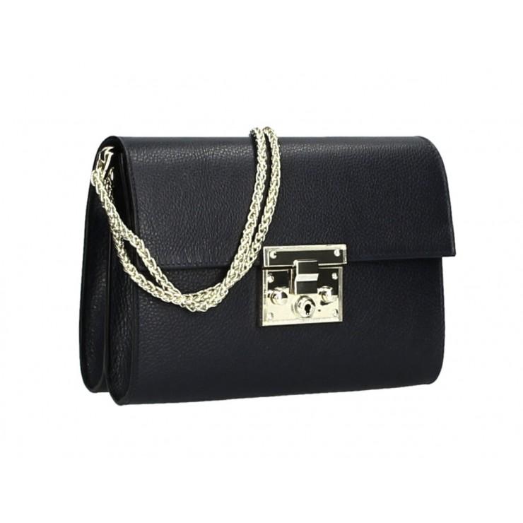 Genuine Leather Shoulder Bag MI94 black Made in Italy