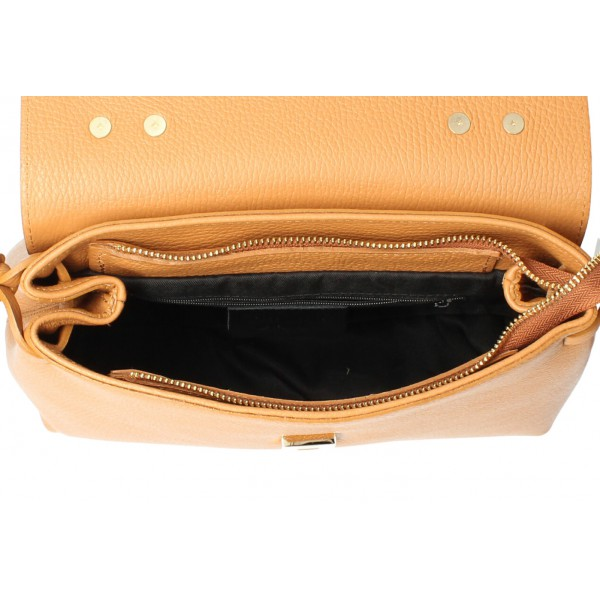 Kožená kabelka MI95 červená Made in Italy Červená