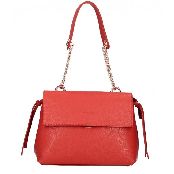 Kožená kabelka MI95 červená Made in Italy