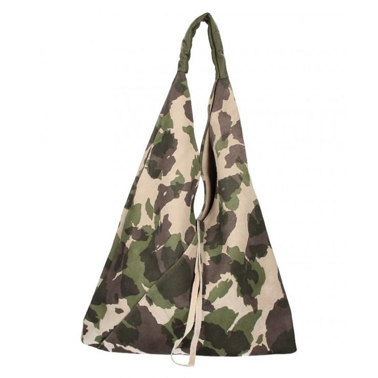 Genuine Leather Maxi Bag 184 multicolor