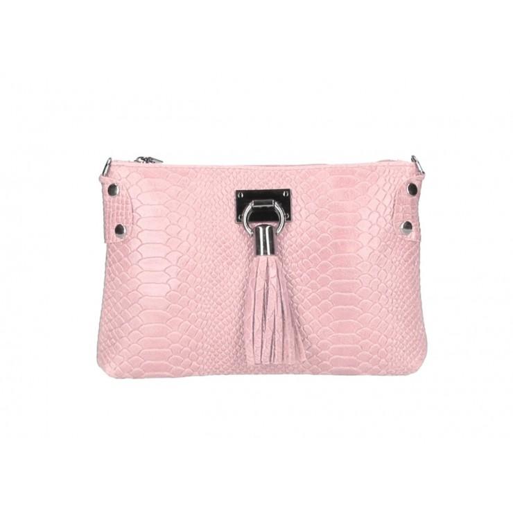 Kožená kabelka MI42 ružová Made in Italy