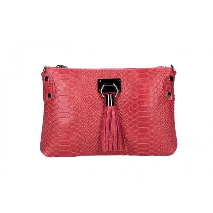 Kožená kabelka MI42 červená Made in Italy