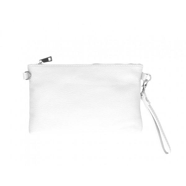 Kožená kabelka MI49 biela Made in Italy Biela