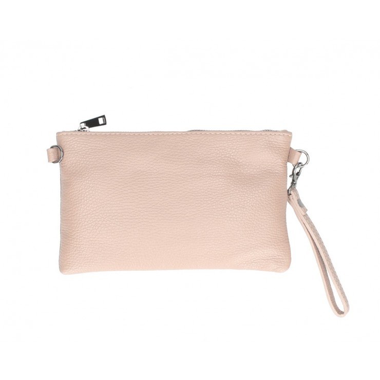 Genuine Leather Handbag MI49 powder pink Made in Italy