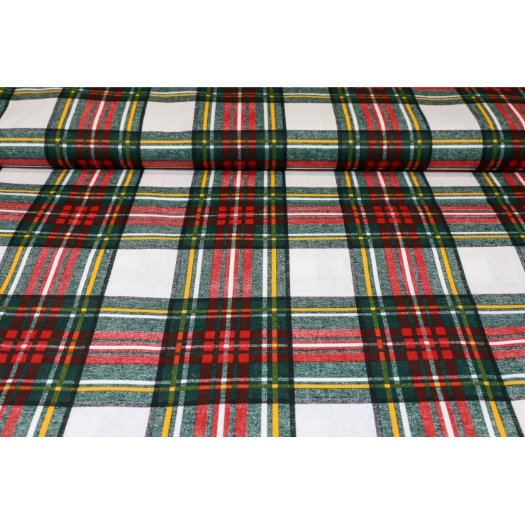 Fabric cotton scottish white cube, h. 140 cm