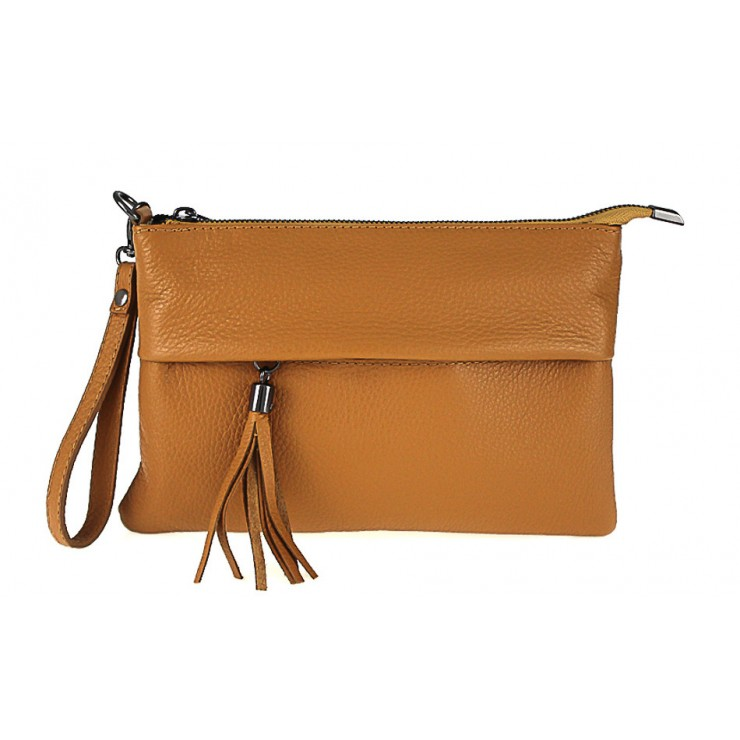 Genuine Leather Handbag 1492 cognac