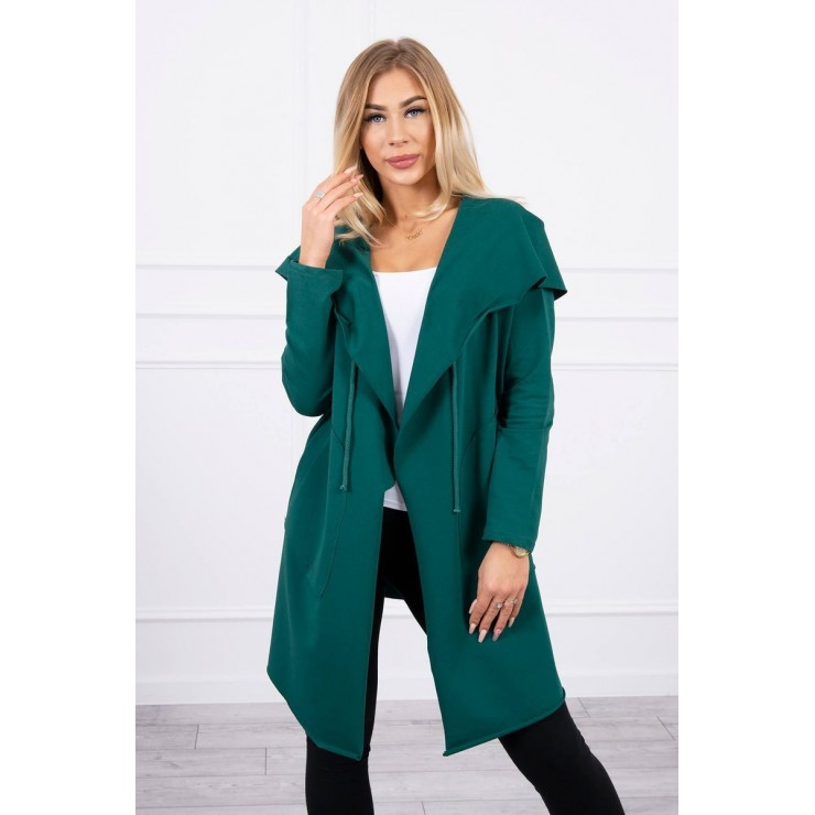 Cape with a hood MI8928 green