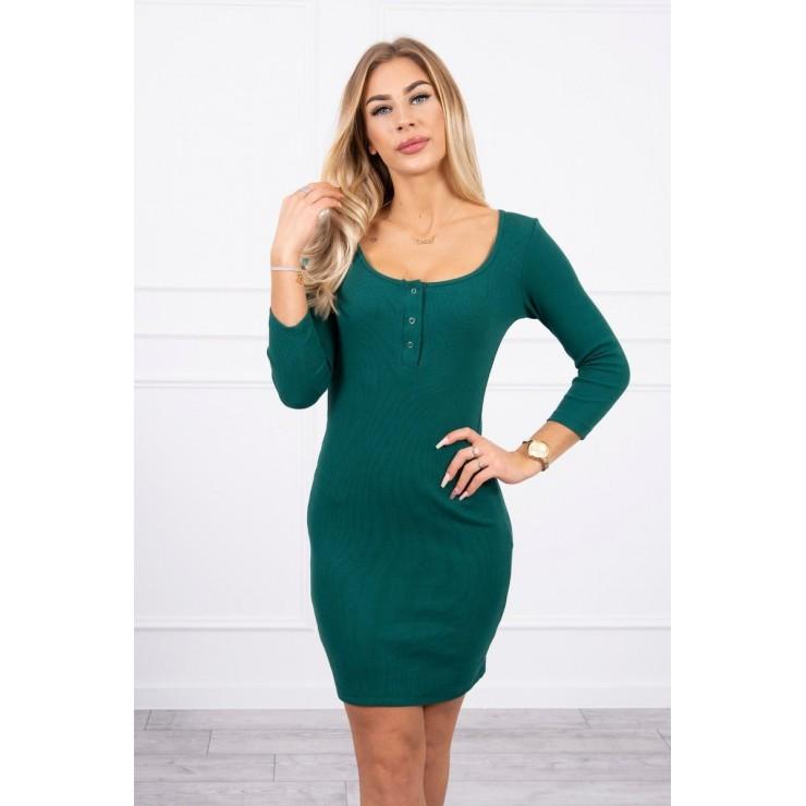 Dress with a neckline for naps MI8975 dark green