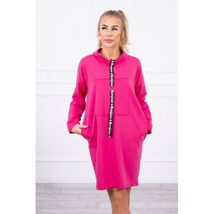 Dress with hood Bonjour MI0153 fuxia