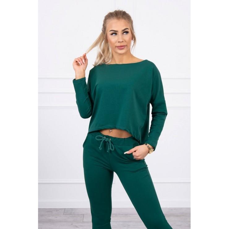 Women's set with oversize blouse MI9091 green