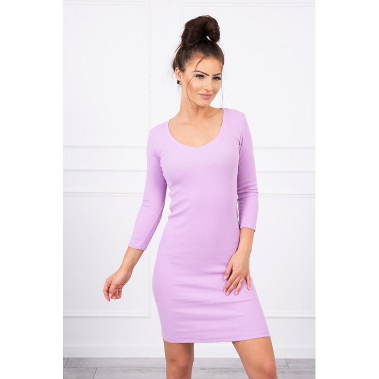 Women's neckline dress MI8863 purple
