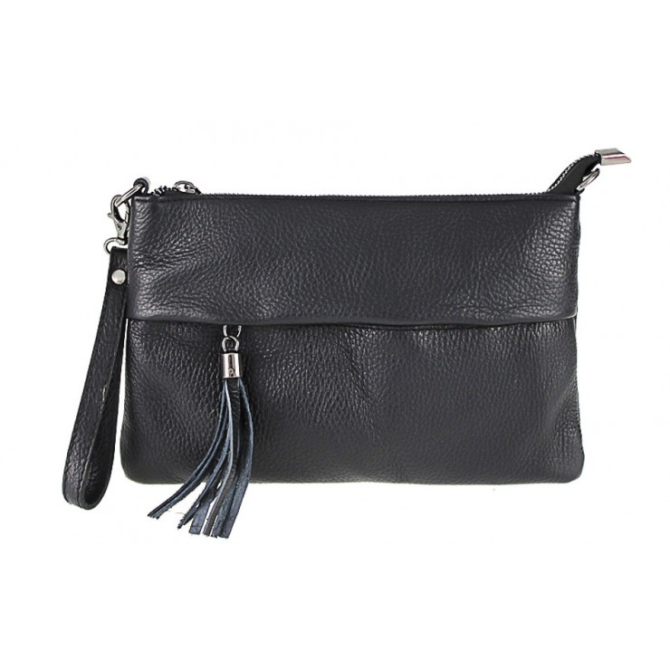 Genuine Leather Handbag 1492 black
