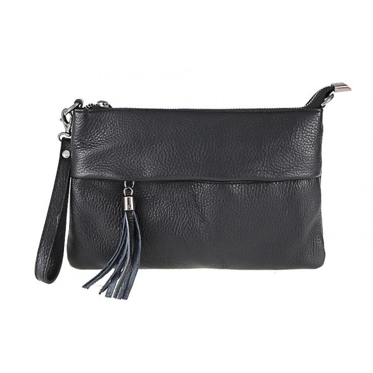 Kožená kabelka 1492 černá