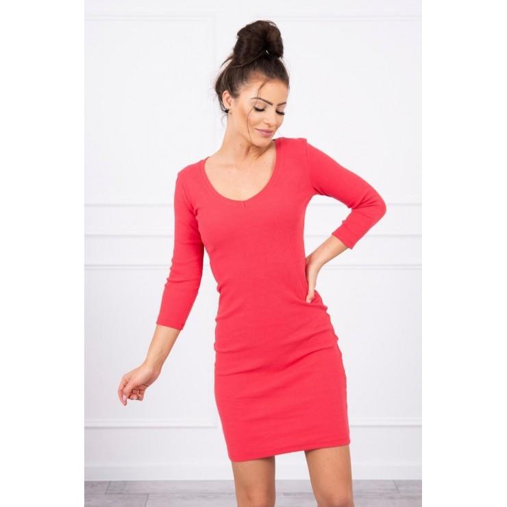 Women's neckline dress MI8863 raspberry