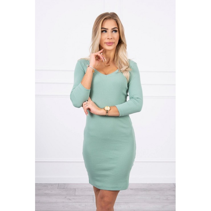 Women's neckline dress MI8863 dark mint