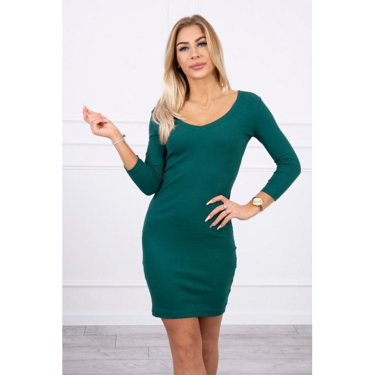Women's neckline dress MI8863 green