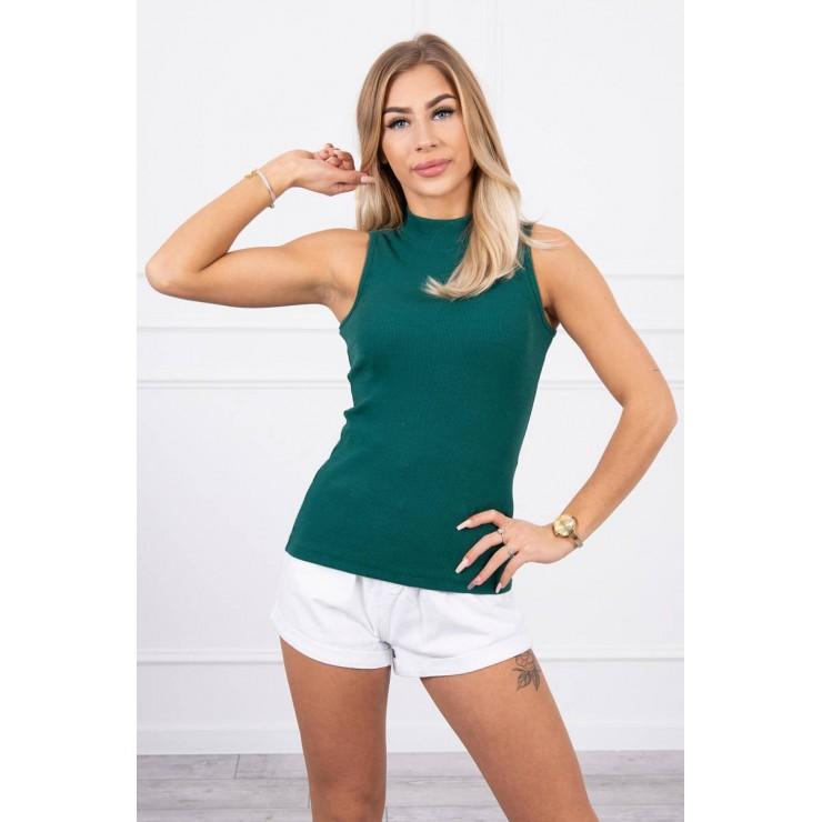 Dámske tričko bez rukávov MI8988 zelené