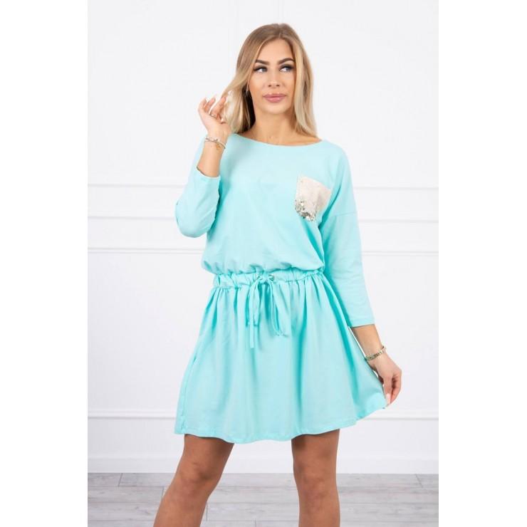 Dress with sequin pocket MI9004 mint