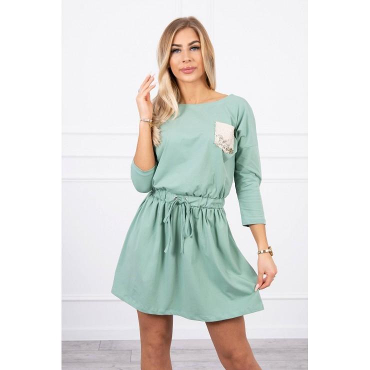 Dress with sequin pocket MI9004 dark mint