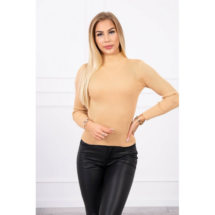 Women's thin turtleneck S5078 beige