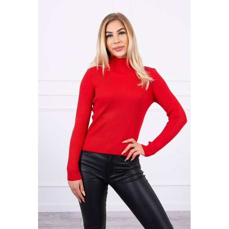 Women's thin turtleneck S5078 red