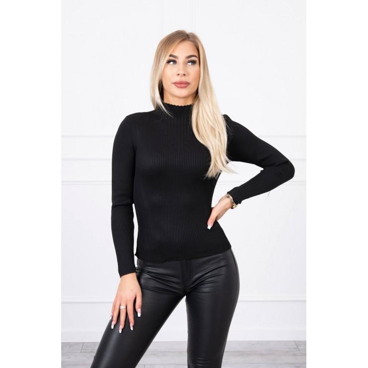 Women's thin turtleneck S5078 black