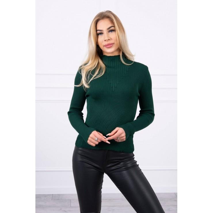 Women's thin turtleneck S5078 green