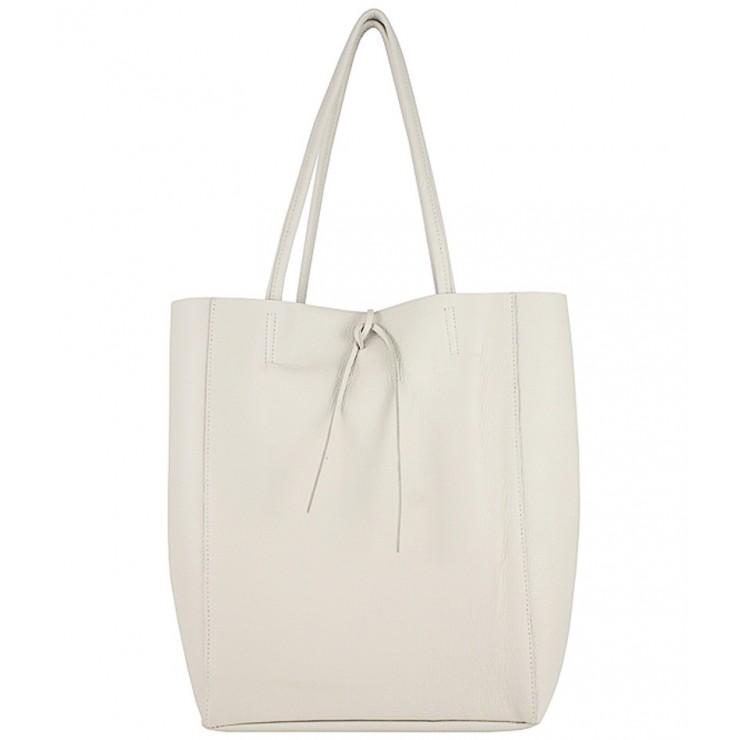 Genuine Leather Maxi Bag 396 beige