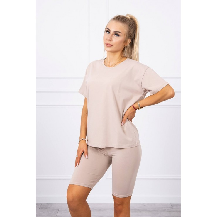 Set of tops and leggings MI9099 beige