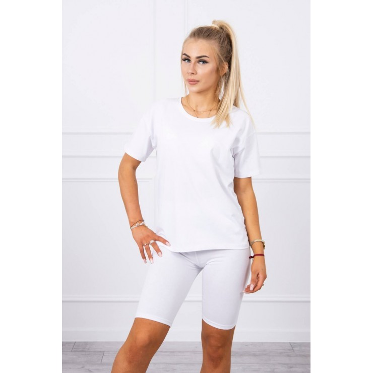 Set of tops and leggings MI9099 white