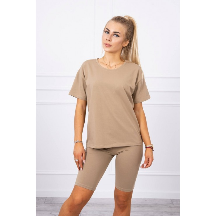 Set of tops and leggings MI9099 camel