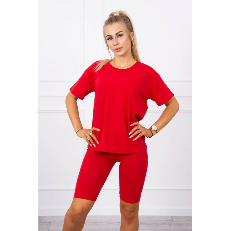 Set of tops and leggings MI9099 red