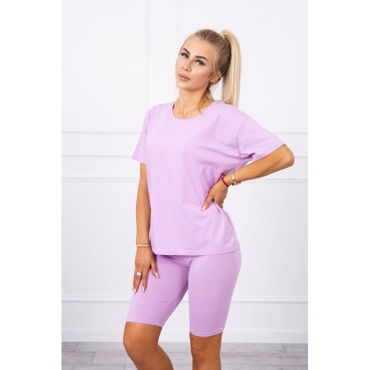 Set of tops and leggings MI9099 purple