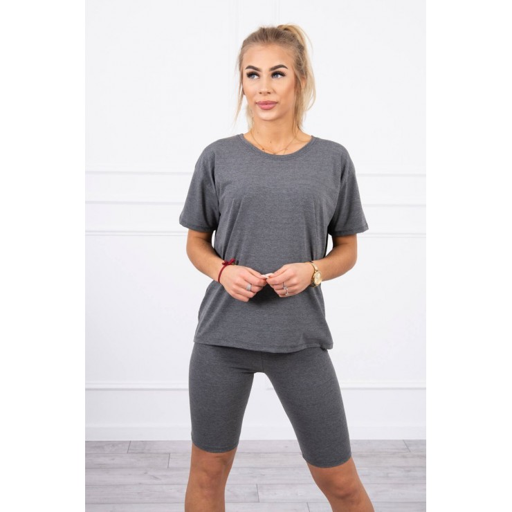 Set of tops and leggings MI9099 graphite