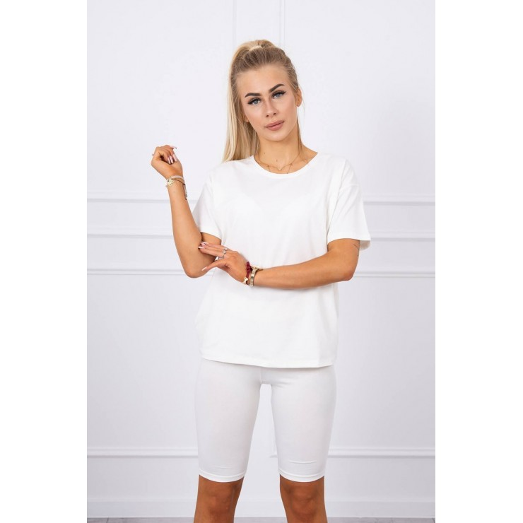 Set of tops and leggings MI9099 cream