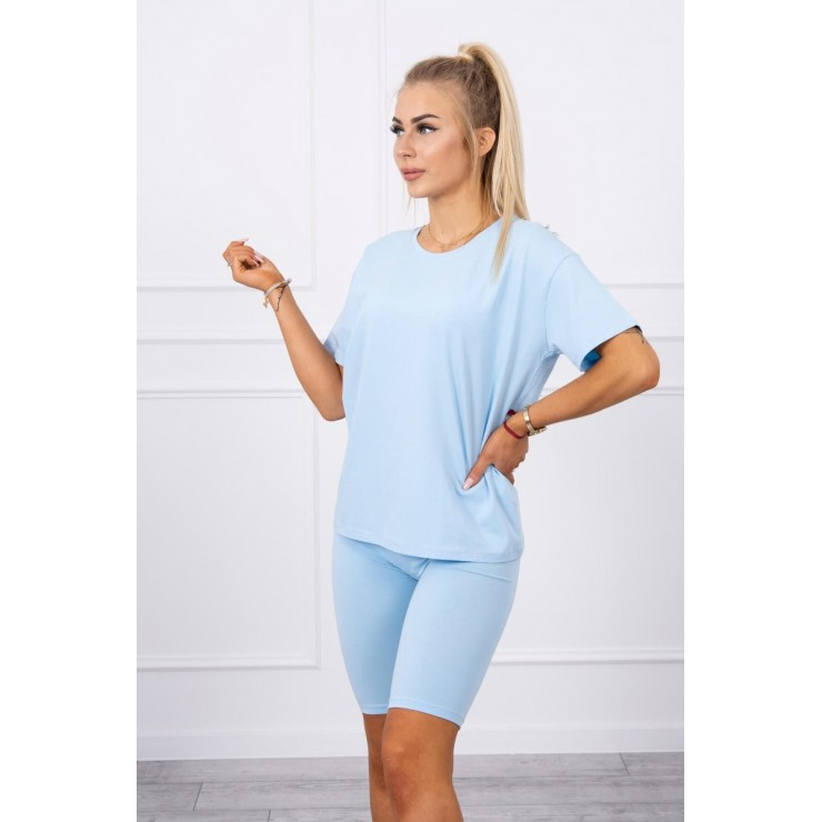 Set of tops and leggings MI9099 light blue