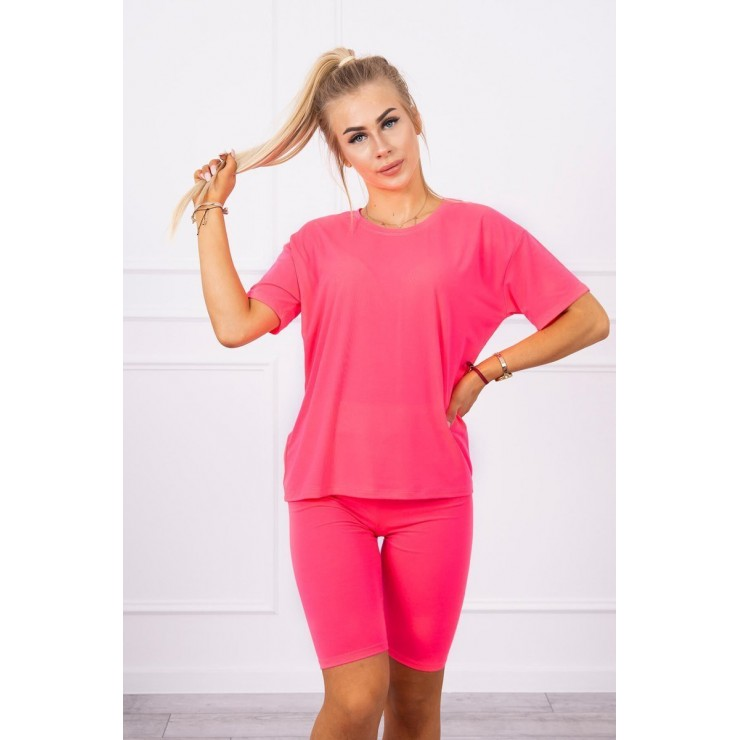 Set of tops and leggings MI9099 pink neon