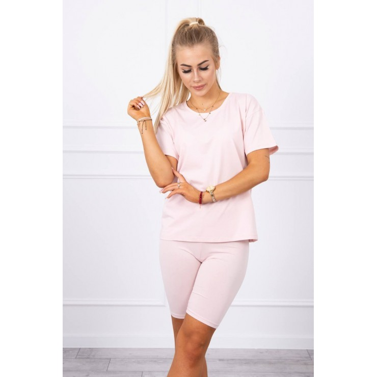 Set of tops and leggings MI9099 powder pink