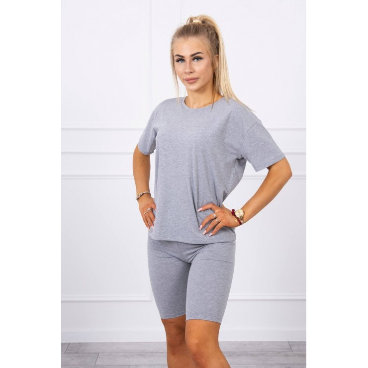 Set of tops and leggings MI9099 gray