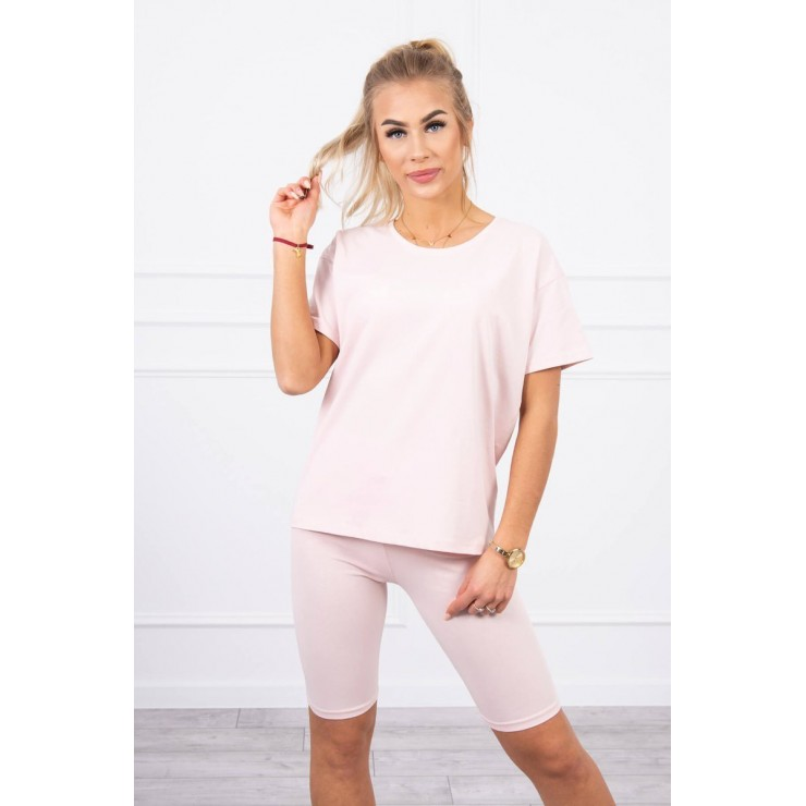 Set of tops and leggings MI9099 dark powder pink