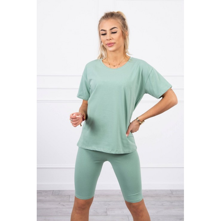 Set of tops and leggings MI9099 dark mint