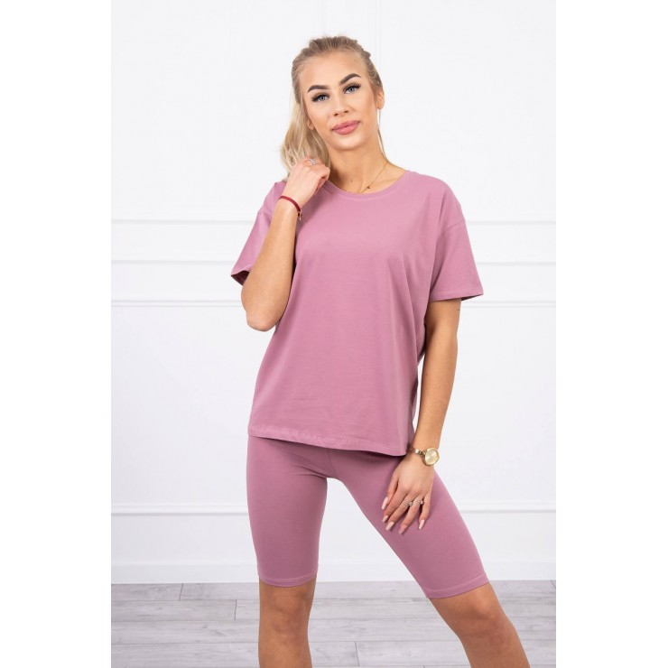 Set of tops and leggings MI9099 dark pink