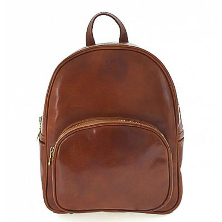 Kožený batoh 5341 koňakový