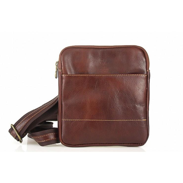 Pánska kožená taška na rameno 383 hnedá