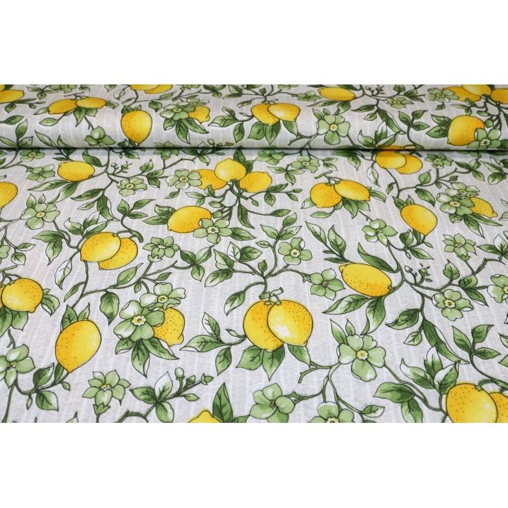 Dekoračná látka Bavlna citróny