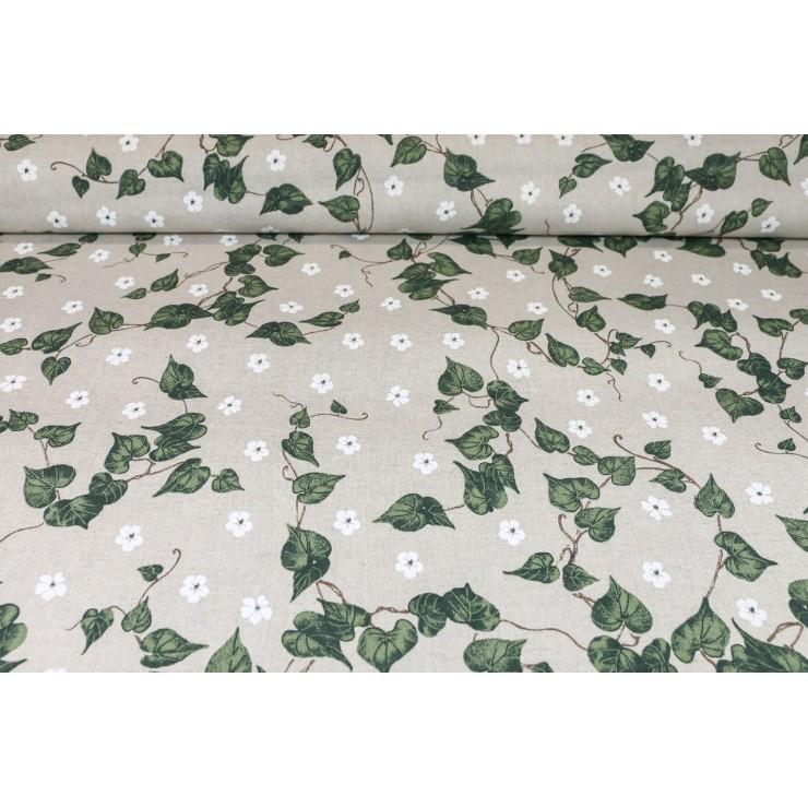 Dekoračná látka zelený brečtan