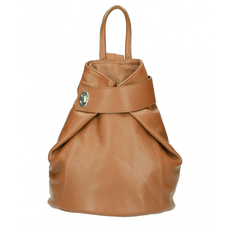 Leather backpack 443 cognac
