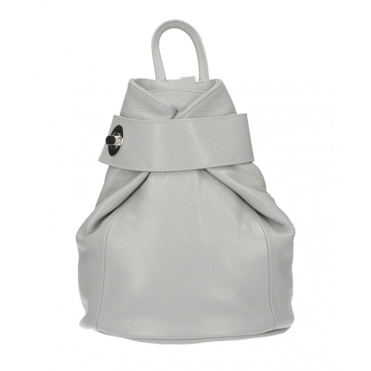 Leather backpack 443 gray